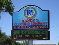 Randy's Electric Co. Sign